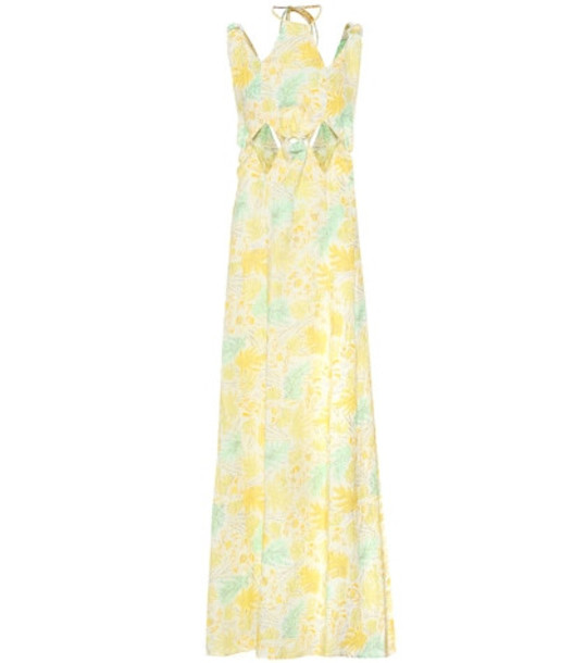 Cult Gaia Sabine floral linen maxi dress in yellow