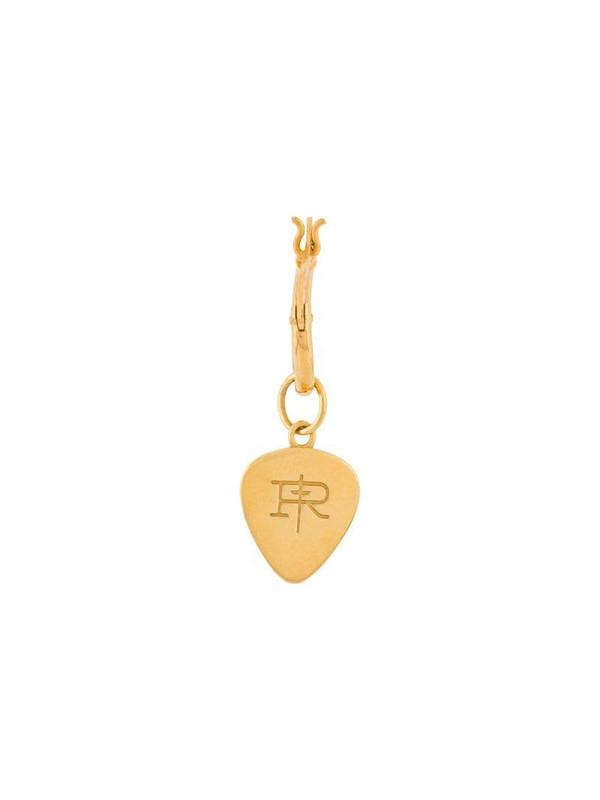 True Rocks plectrum hoop earring in gold
