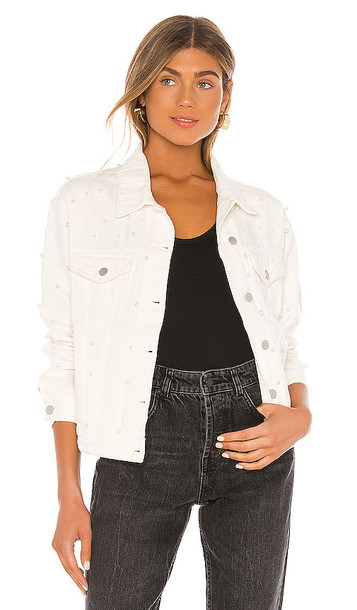 superdown Pearl Denim Jacket in White