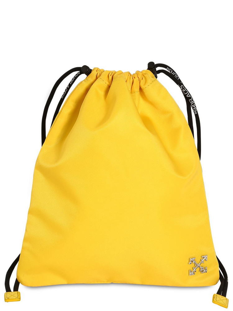 OFF-WHITE Nylon Pouch in yellow