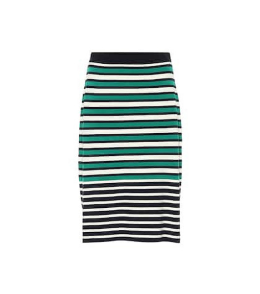 Tory Sport Striped knit skirt in green