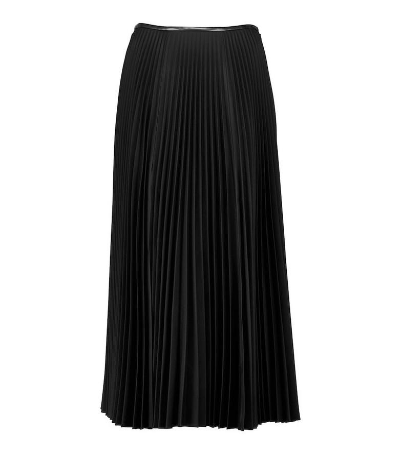 Peter Do High-rise pleated midi skirt in black