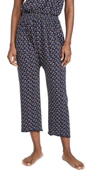 THE GREAT. THE GREAT. The Lounge Crop Pants in navy