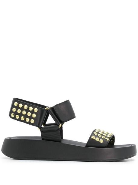 Ash studded sandals in black