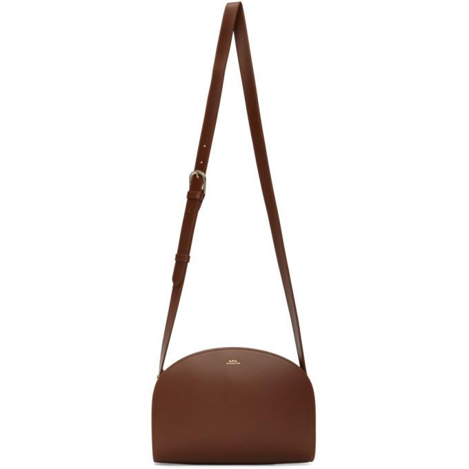 A.P.C. A.P.C. Brown Demi-Lune Bag