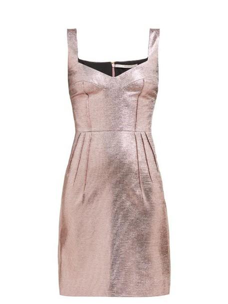 Emilia Wickstead - Judita Lamé Mini Dress - Womens - Pink