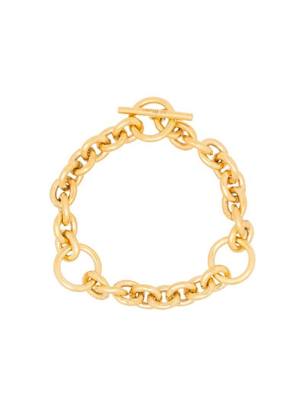 All Blues triple-loop chain toggle bracelet in gold
