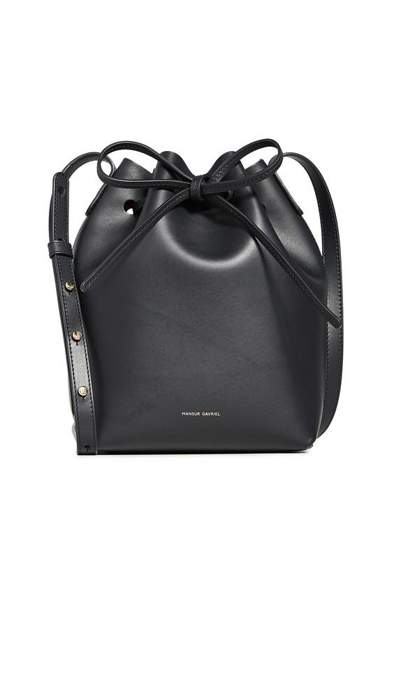 Mansur Gavriel Mini Bucket Bag in black