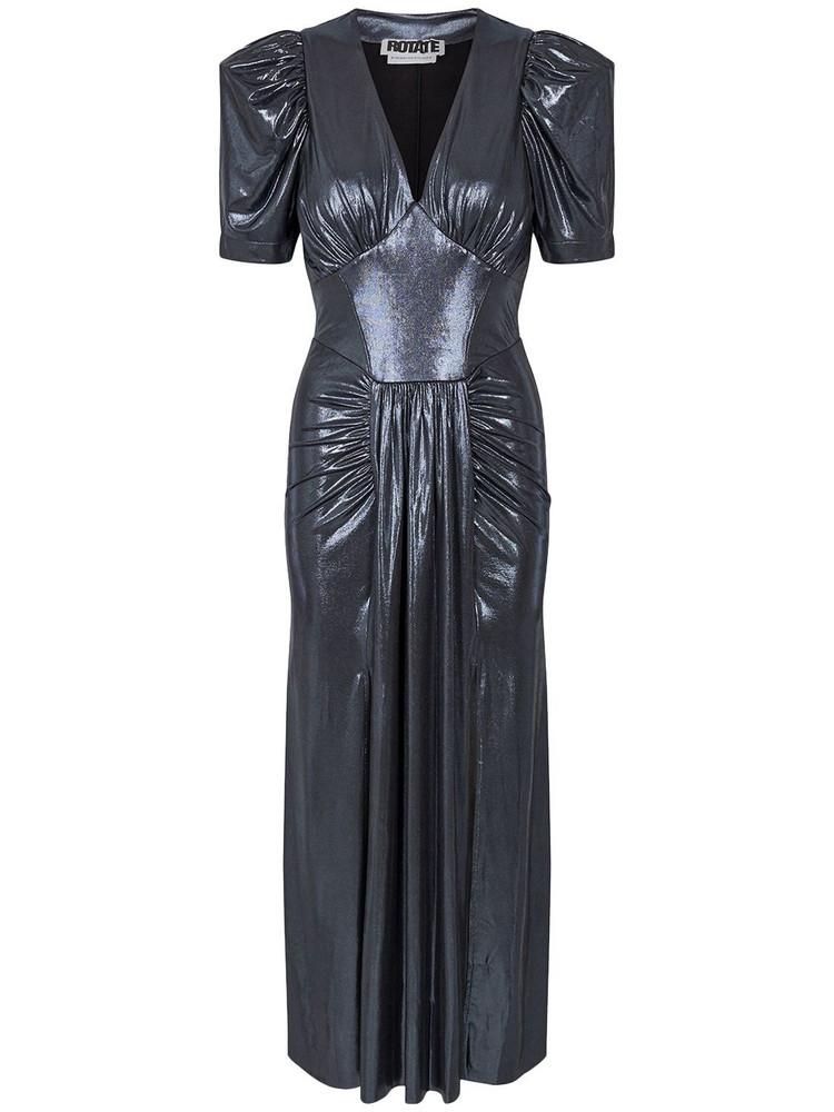 ROTATE Alma Stretch Jersey Midi Dress in black