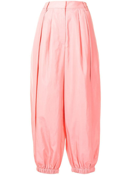 Tibi tapered leg trousers in pink