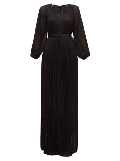 Maria Lucia Hohan - Lee Pleated Silk Tulle Gown - Womens - Black