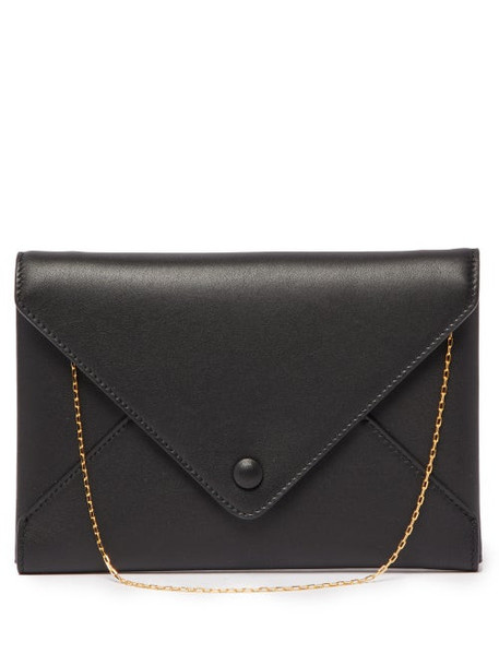 The Row - Envelope Small Leather Clutch - Womens - Black