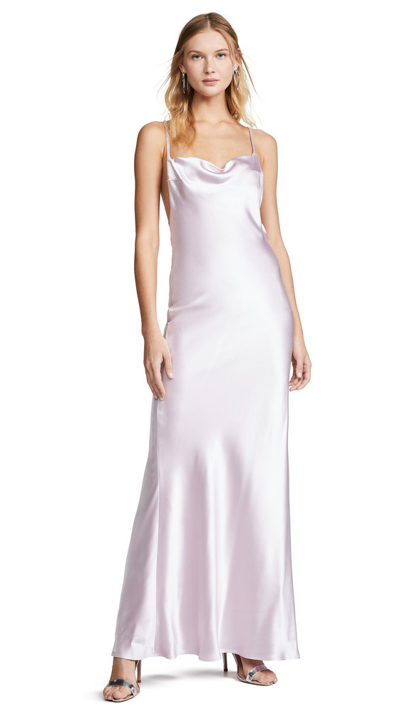 Galvan London Whiteley Dress in lilac