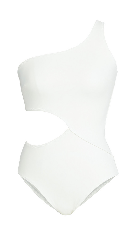 Solid & Striped The Claudia One Piece Swimsuit in cream