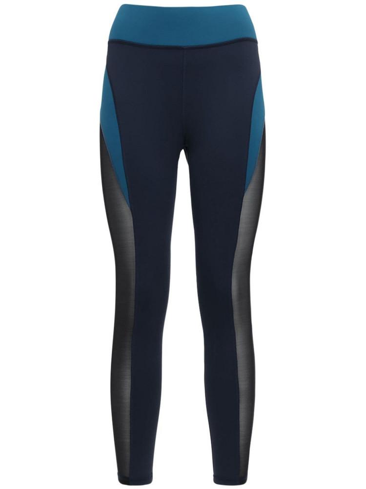 MICHI Raven Deep Sea Crop Leggings in blue