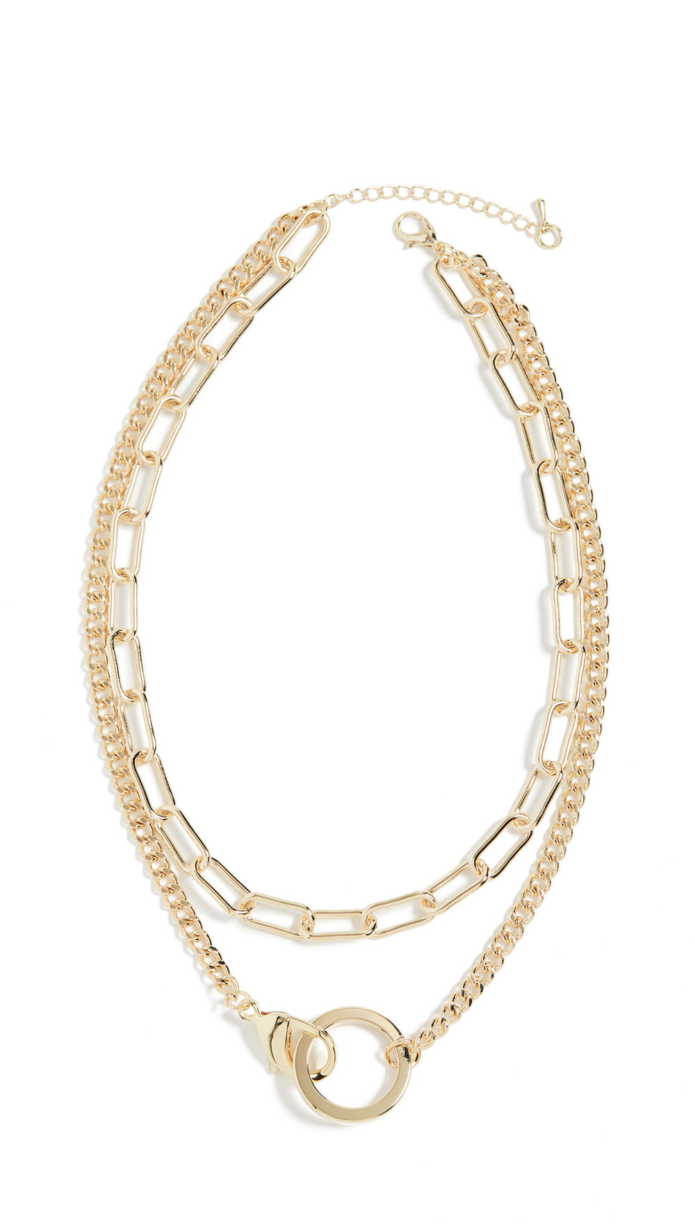 Jules Smith Lobster Claw Pendant Necklace in gold / yellow