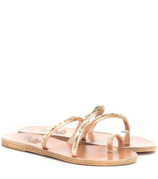 Ancient Greek Sandals Apli Katia leather sandals in gold