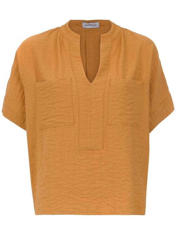 Olympiah Maggiolina short sleeved top in brown