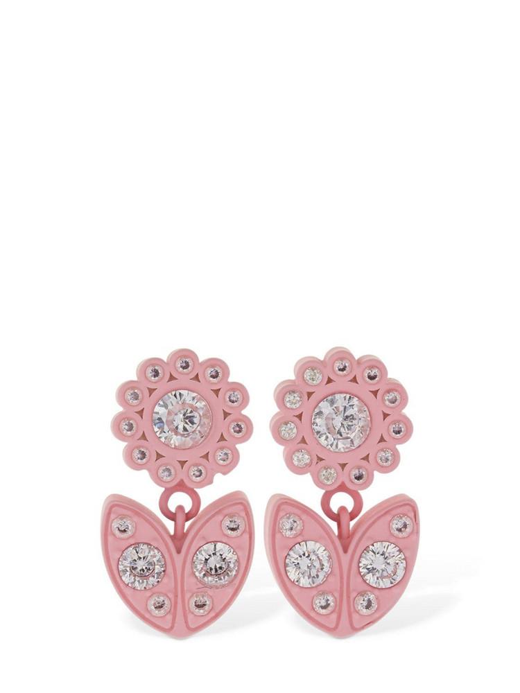 BOTTEGA VENETA Flower Drop Earrings in pink