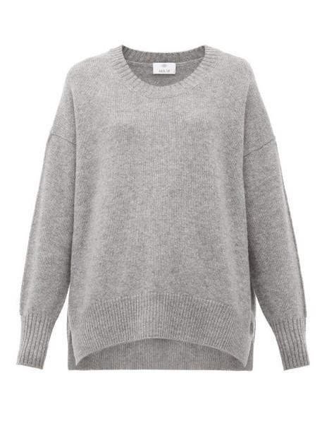 Allude - Oversized Cashmere Sweater - Womens - Dark Grey