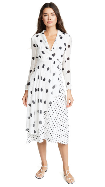 Farm Rio Onca Dots Dress in black / white
