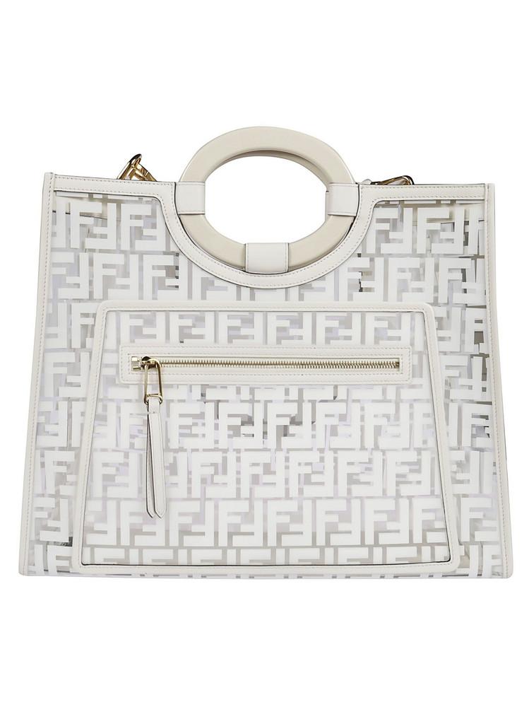 Fendi Runaway Shopper Bag in white