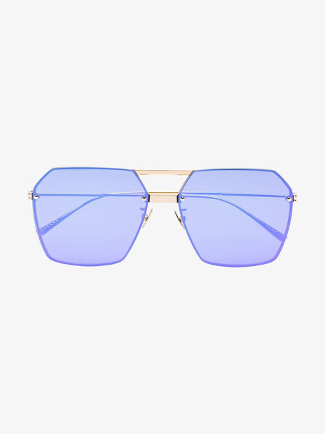 Bottega Veneta purple frameless sunglasses