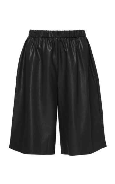 Deitas Cap D'Antibes Organic Vegan Leather Shorts in black