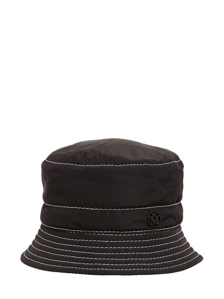 MAISON MICHEL Axel Nylon Hat in black