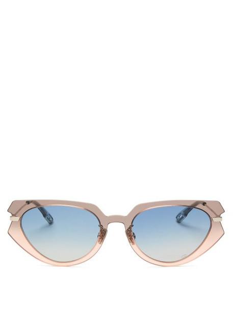 Dior Eyewear - Diorattitude2 Cat-eye Acetate Sunglasses - Womens - Grey Multi