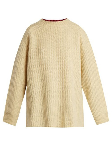 Calvin Klein 205w39nyc - Oversized Contrast Panel Sweater - Womens - Yellow Multi