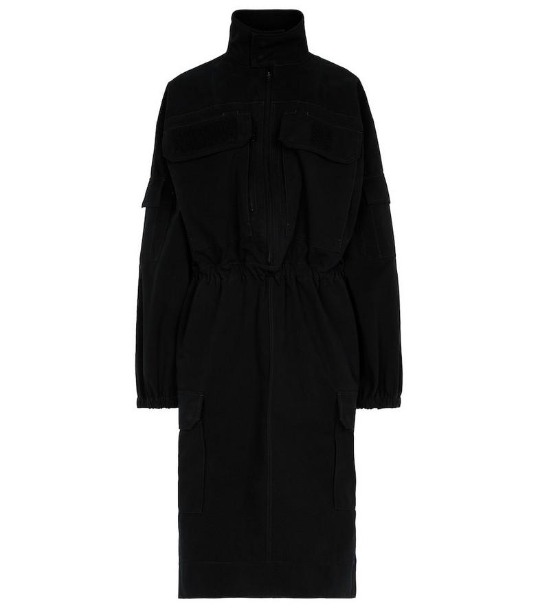 Balenciaga Funnel-neck cargo dress in black