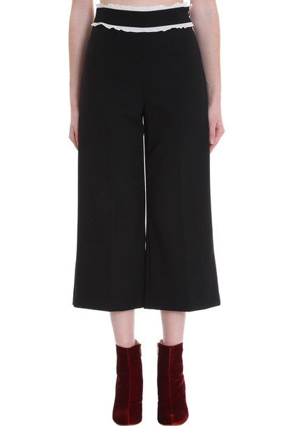 RED Valentino Pants In Black Cotton