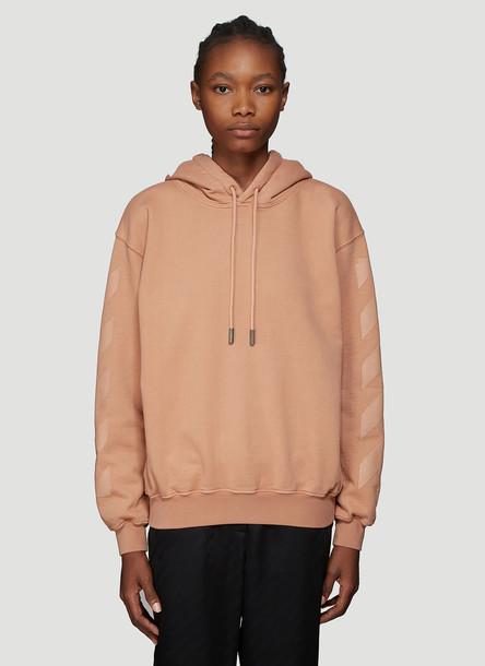 Off-White Diag Arrows Hooded Sweatshirt in Beige size L