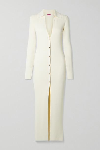 GAUGE81 - Rubi Ribbed-knit Midi Dress - Ivory