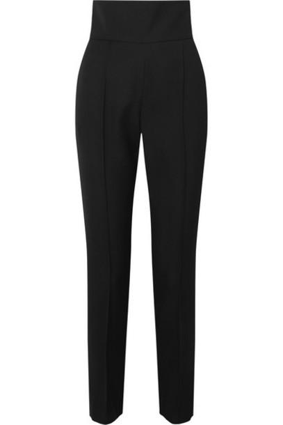 Alexandre Vauthier - Wool-blend Gabardine Slim-leg Pants - Black