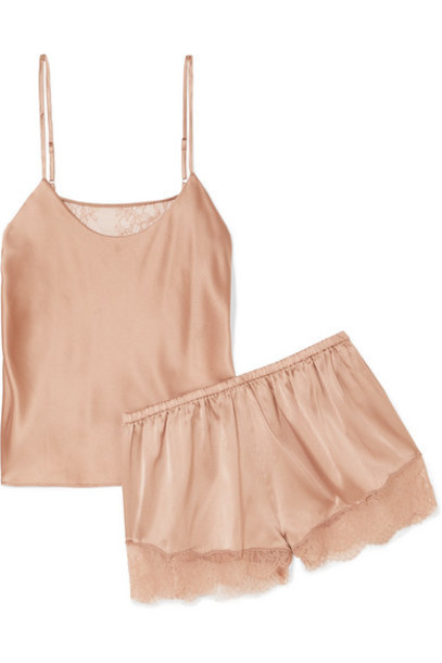 Cami NYC - Perry Lace-trimmed Stretch-silk Charmeuse Pajama Set - Blush