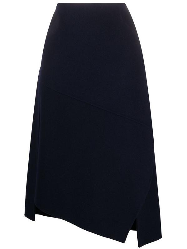 Odeeh asymmetric skirt in blue