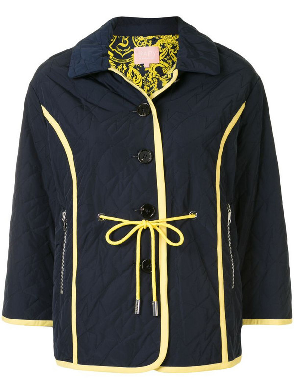 BAPY BY *A BATHING APE® star quilted jacket in blue