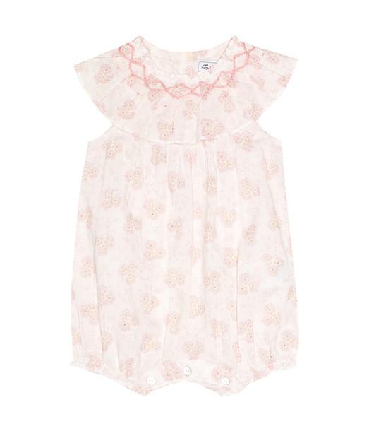 Tartine et Chocolat Baby floral cotton playsuit in pink