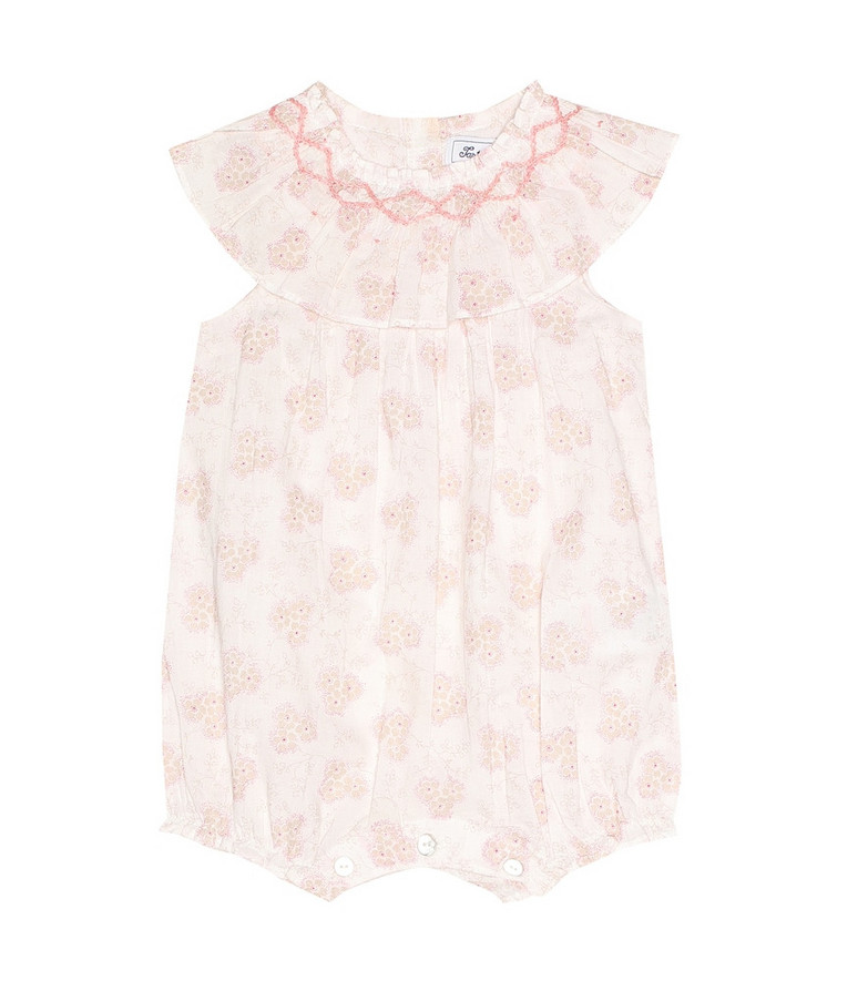 Tartine et Chocolat Baby floral cotton playsuit in pink