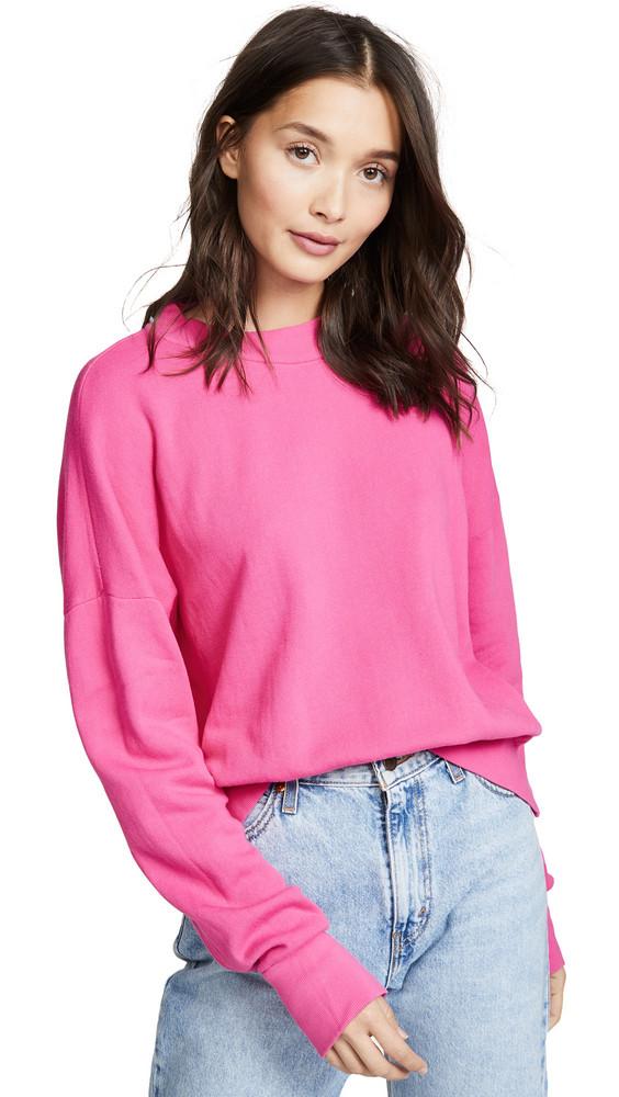 LNA Mock Sweatshirt in magenta