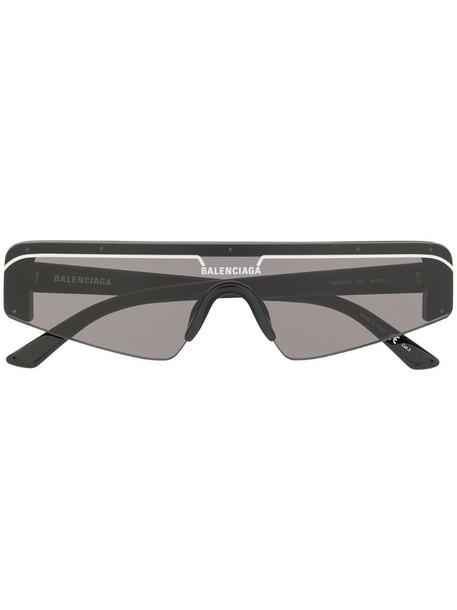 Balenciaga Eyewear Ski rectangle sunglasses in black