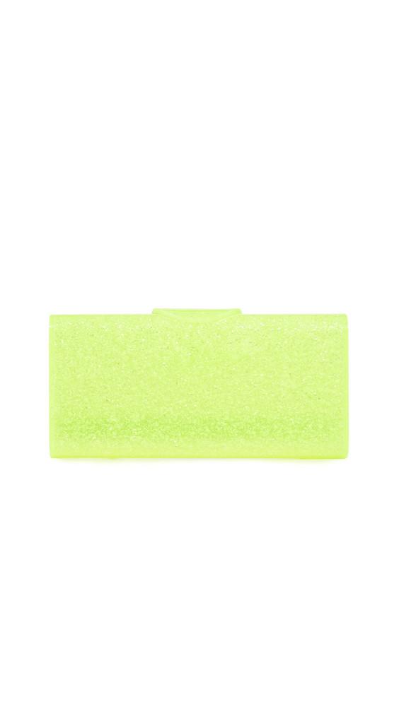 Edie Parker Lara Solid Clutch in yellow