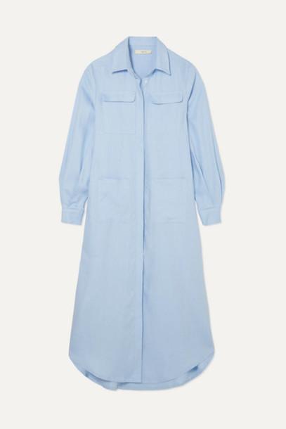 MATIN - Linen Midi Dress - Blue