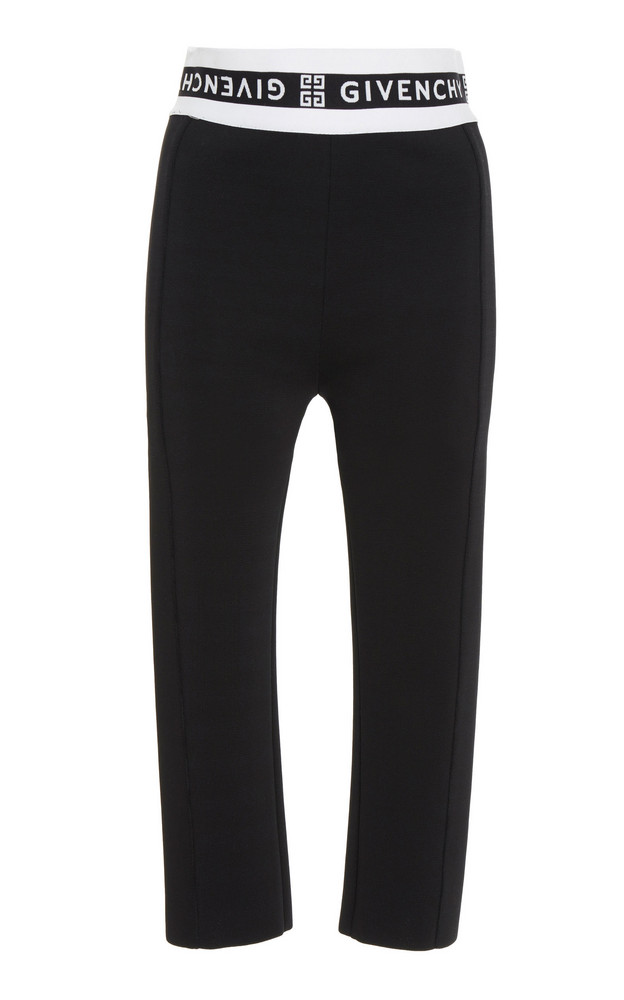 Givenchy Jacquard-Trimmed Tech-Jersey Skinny Pants Size: XS in black