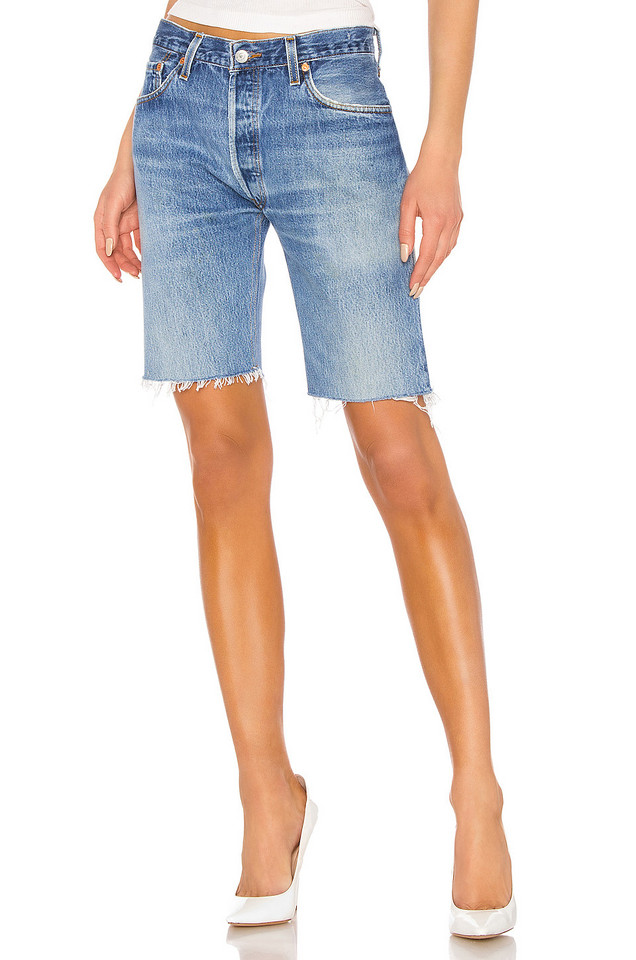 RE/DONE The Long Short in indigo