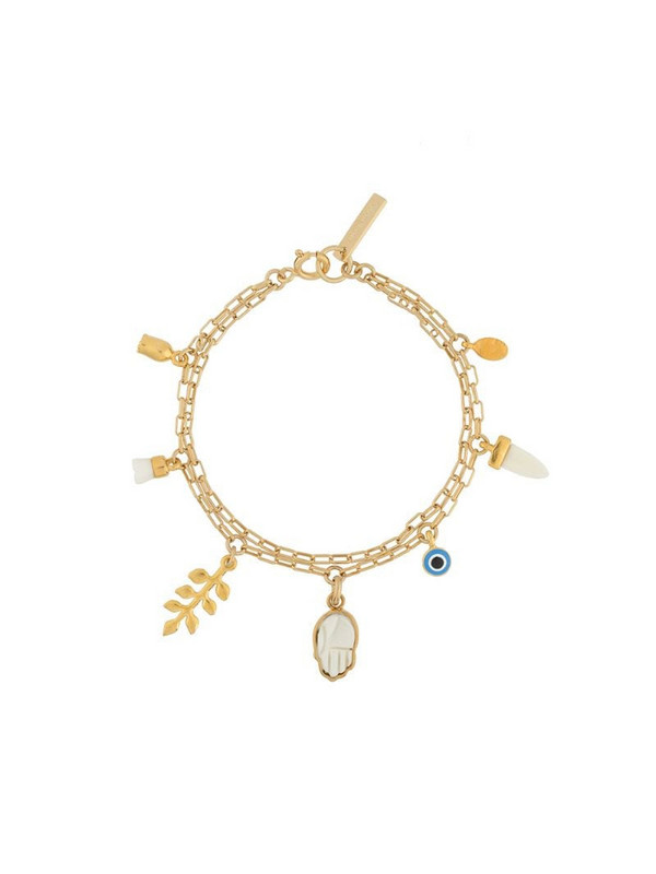 Isabel Marant multi-charm bracelet in gold
