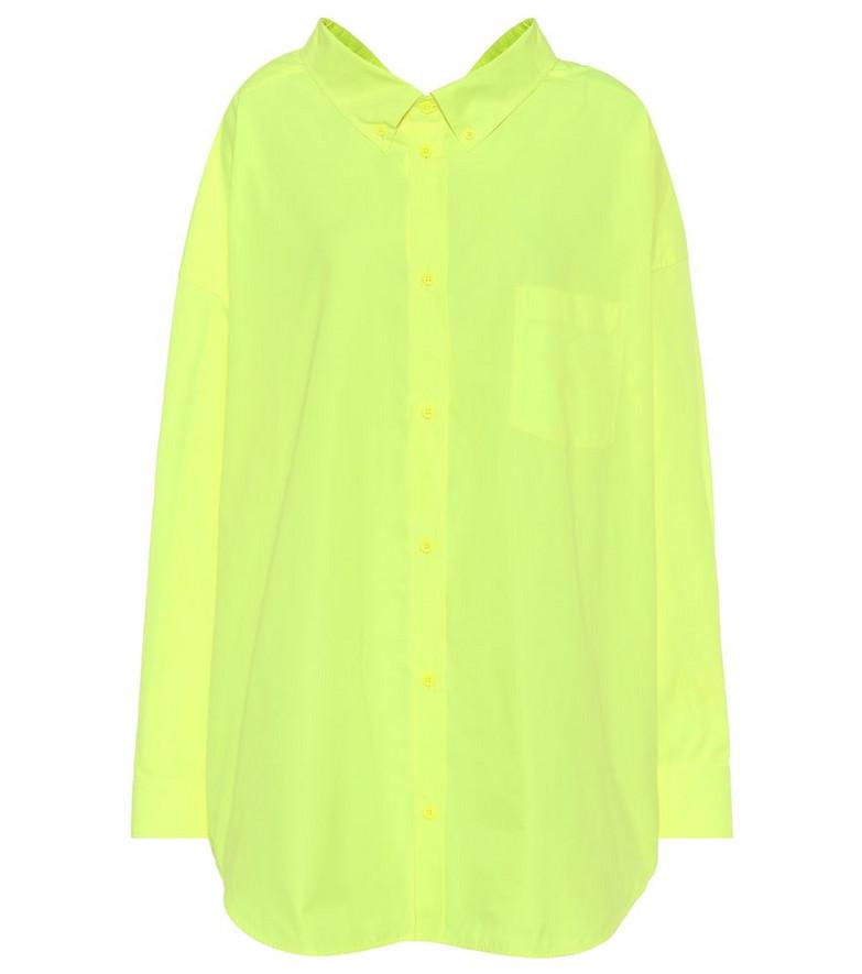 Balenciaga Swing oversized cotton shirt in yellow
