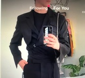 jacket,black,blazer,crossover,wapped